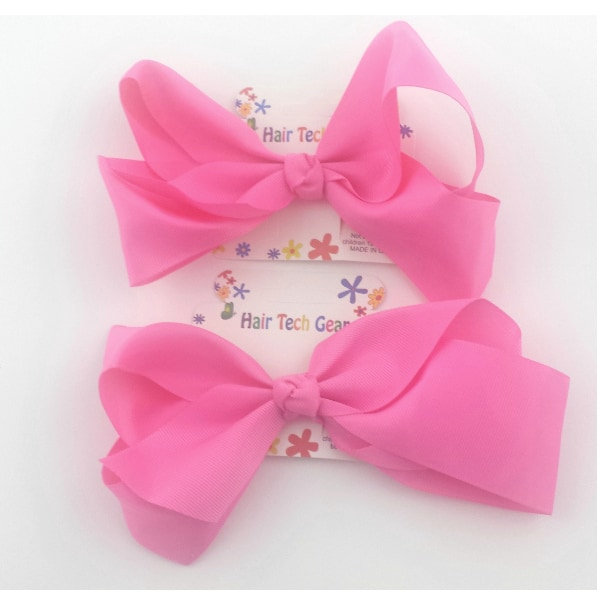Large Pink Ribbon Hair Bow Glamour Boutique