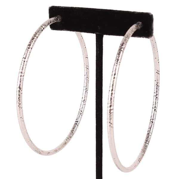 French Hoop Oversize Earrings