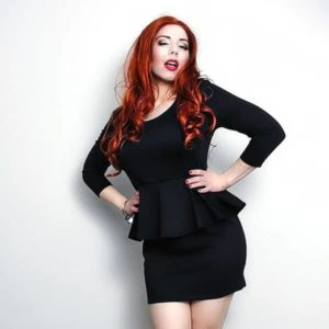 Black Crossdresser Peplum Dress