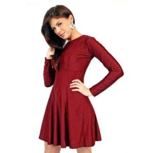 Tailored Burgundy Dress